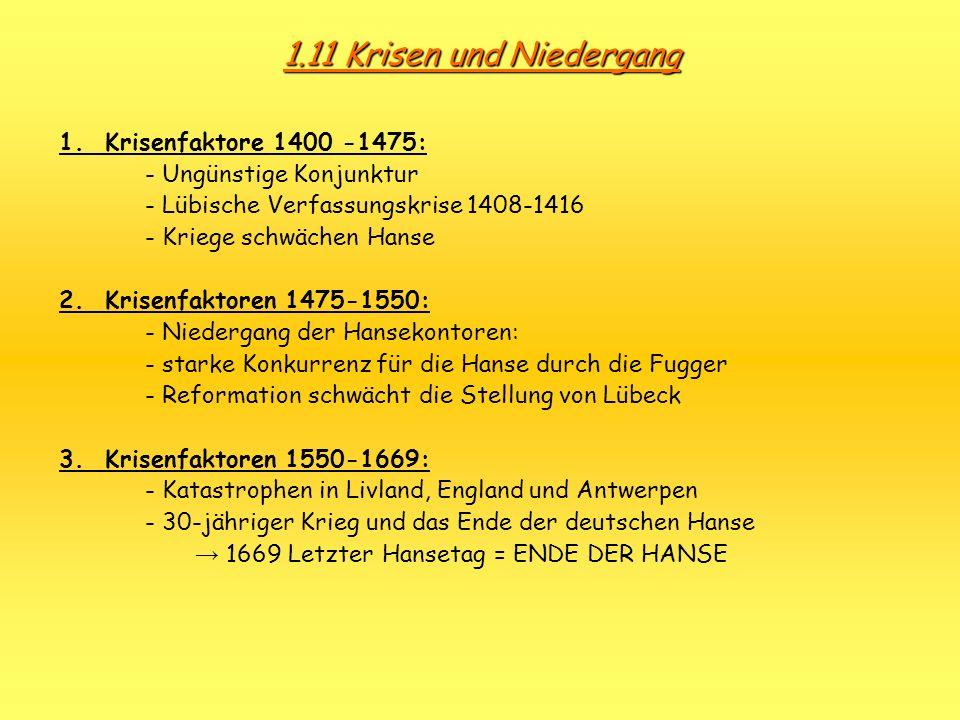 1.11 Krisen und Niedergang 1. Krisenfaktore 1400 -1475:
