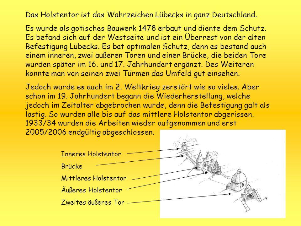 Das Holstentor ist das Wahrzeichen Lübecks in ganz Deutschland.