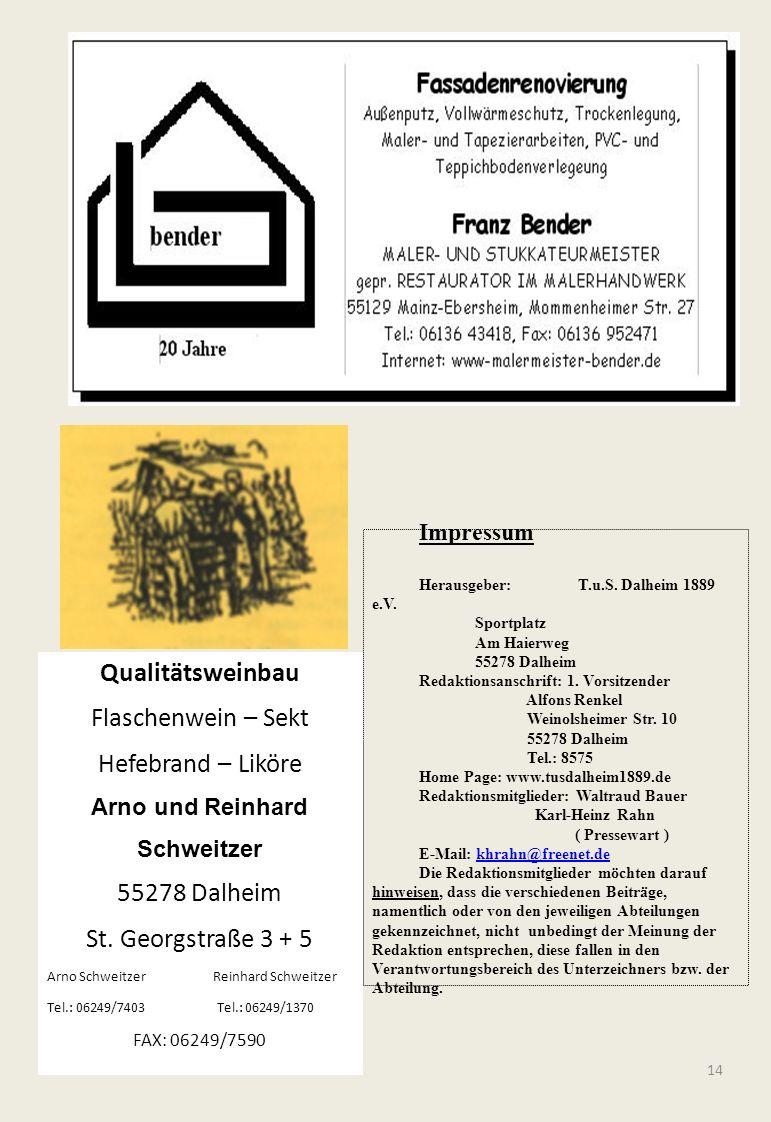 Qualitätsweinbau Flaschenwein – Sekt Hefebrand – Liköre 55278 Dalheim