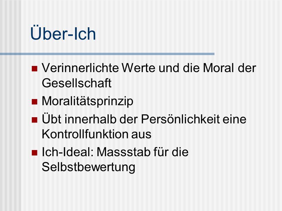 Über-Ich Verinnerlichte Werte und die Moral der Gesellschaft