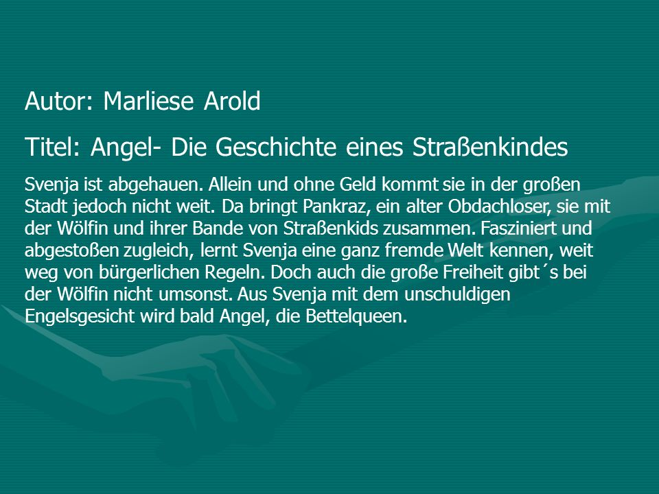 Titel: Angel- Die Geschichte eines Straßenkindes