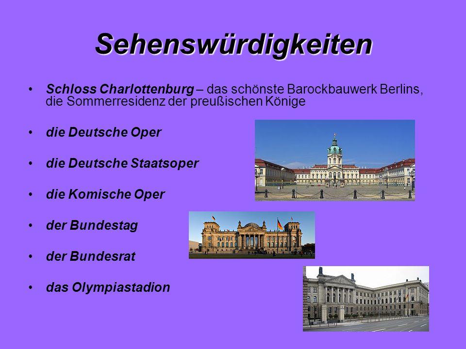Sehenswürdigkeiten Schloss Charlottenburg – das schönste Barockbauwerk Berlins, die Sommerresidenz der preußischen Könige.