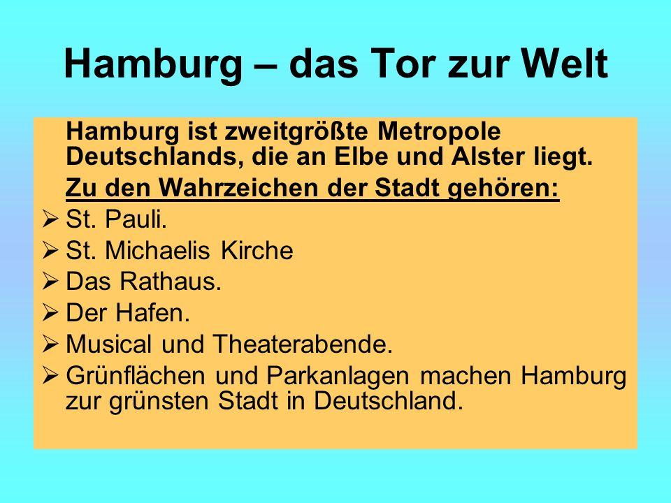 Hamburg – das Tor zur Welt