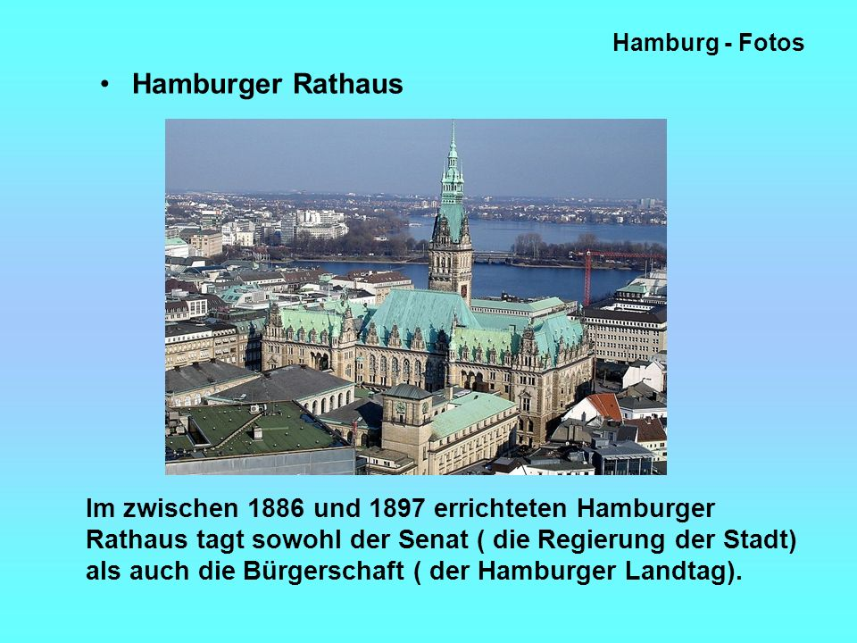 Hamburg - Fotos Hamburger Rathaus.