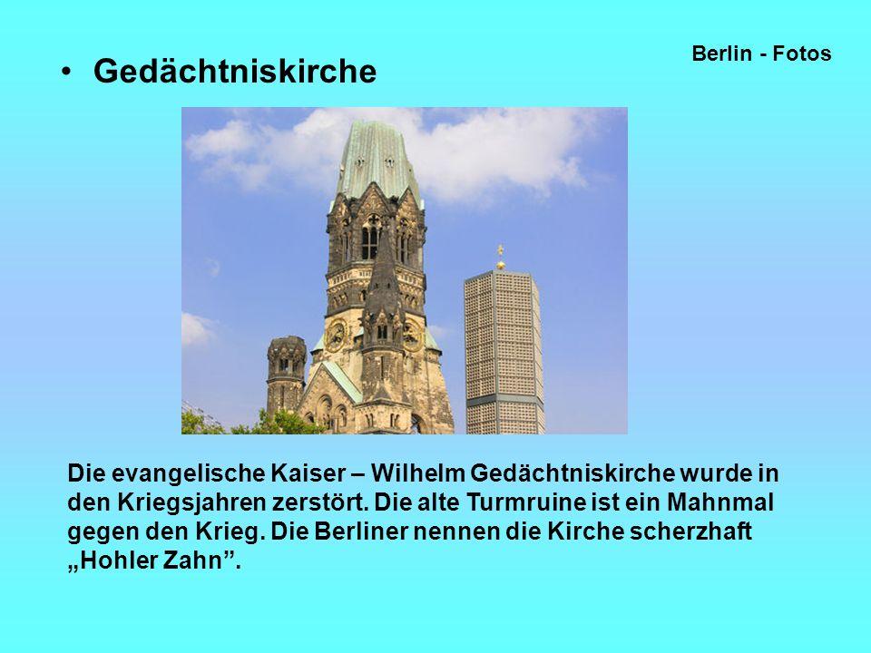 Berlin - Fotos Gedächtniskirche.