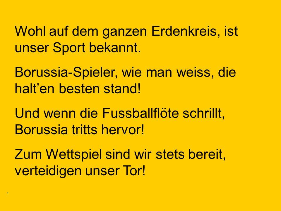 Wohl auf dem ganzen Erdenkreis, ist unser Sport bekannt.