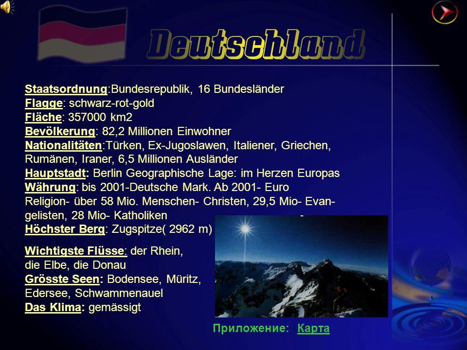Staatsordnung:Bundesrepublik, 16 Bundesländer