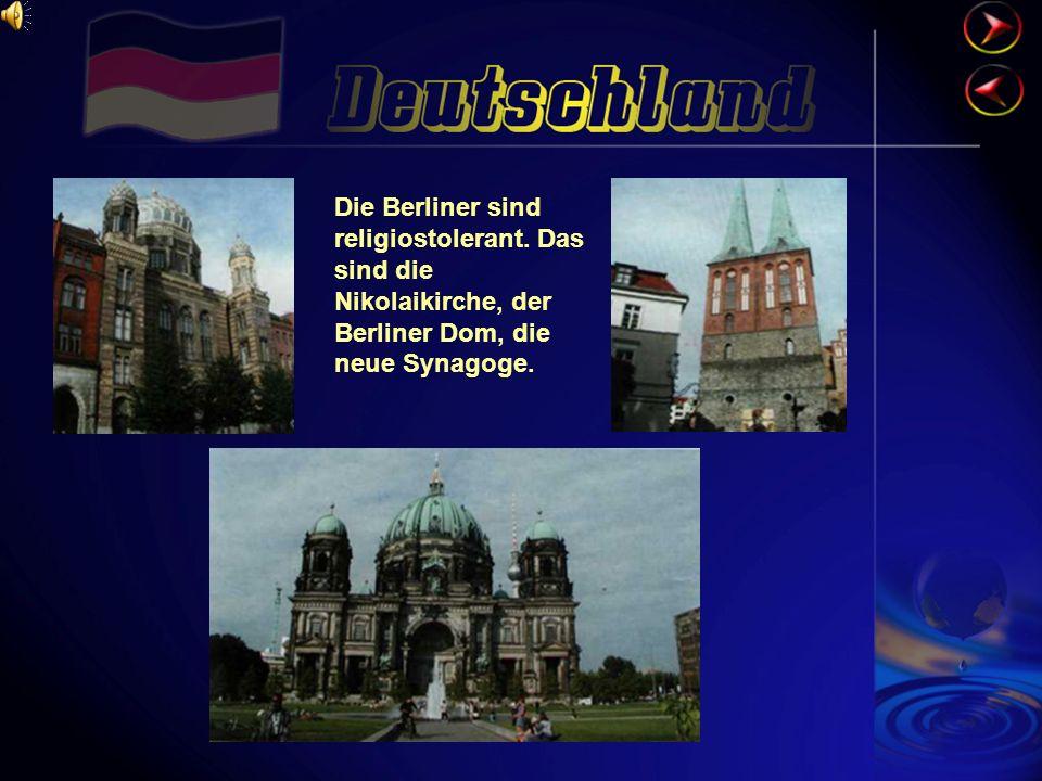 Die Berliner sind religiostolerant