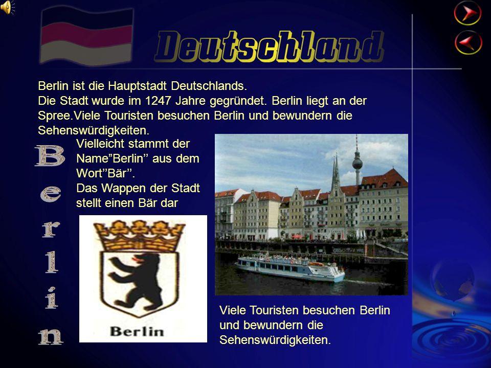 Berlin Berlin ist die Hauptstadt Deutschlands.
