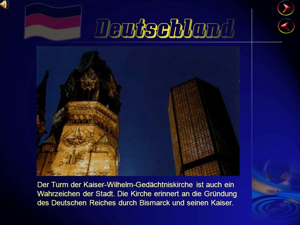 Der Turm der Kaiser-Wilhelm-Gedächtniskirche ist auch ein Wahrzeichen der Stadt.