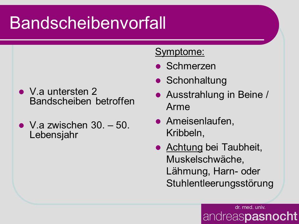 Bandscheibenvorfall Symptome: Schmerzen Schonhaltung