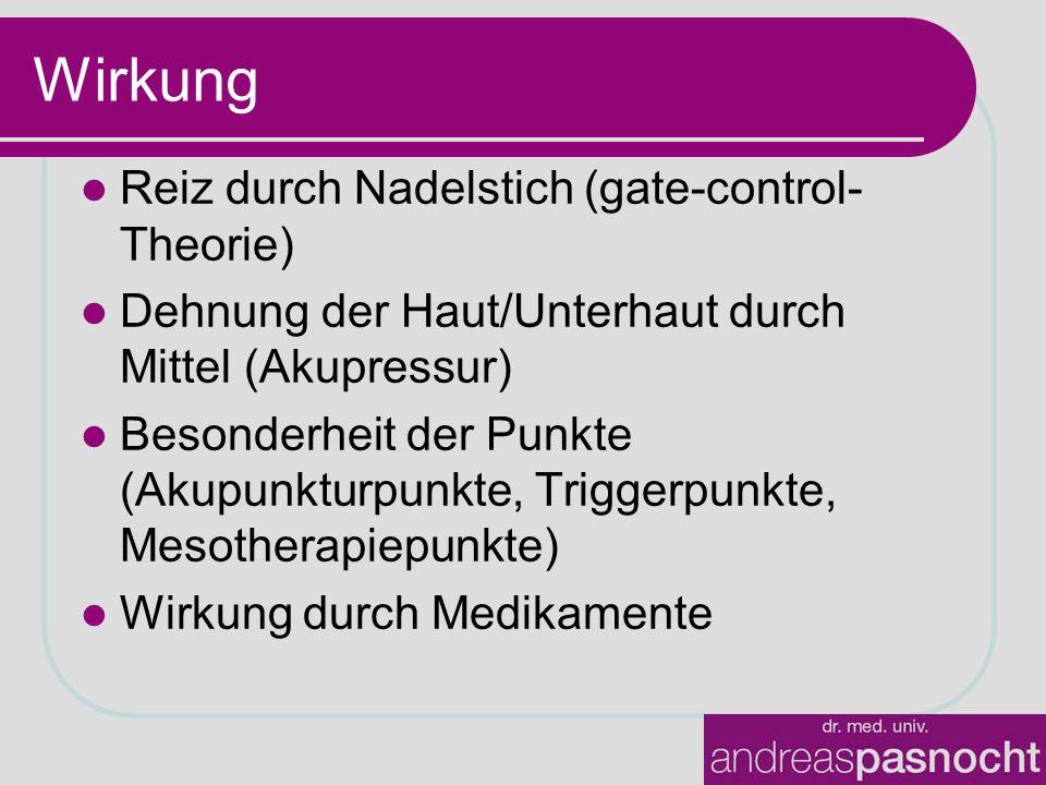 Wirkung Reiz durch Nadelstich (gate-control-Theorie)