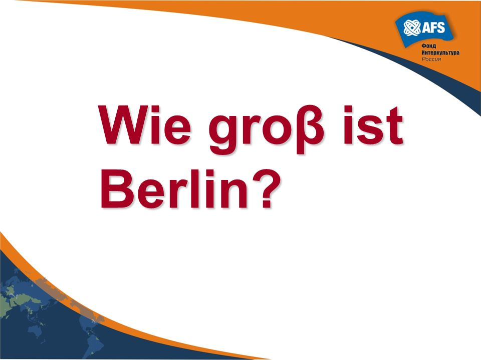 Wie groβ ist Berlin