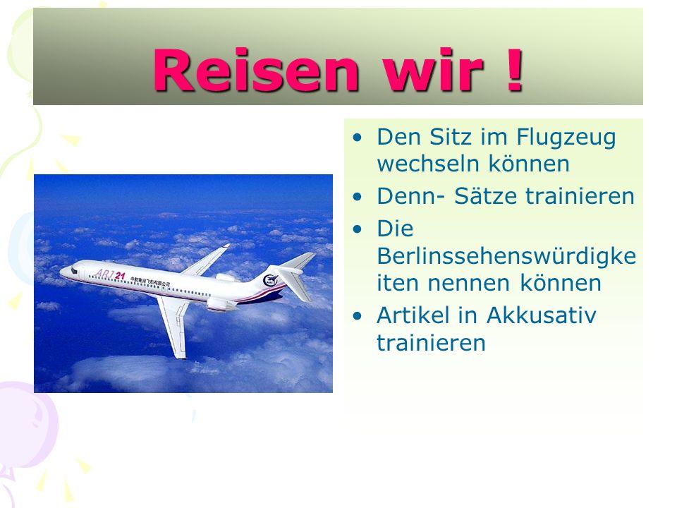 Reisen wir ! Den Sitz im Flugzeug wechseln können
