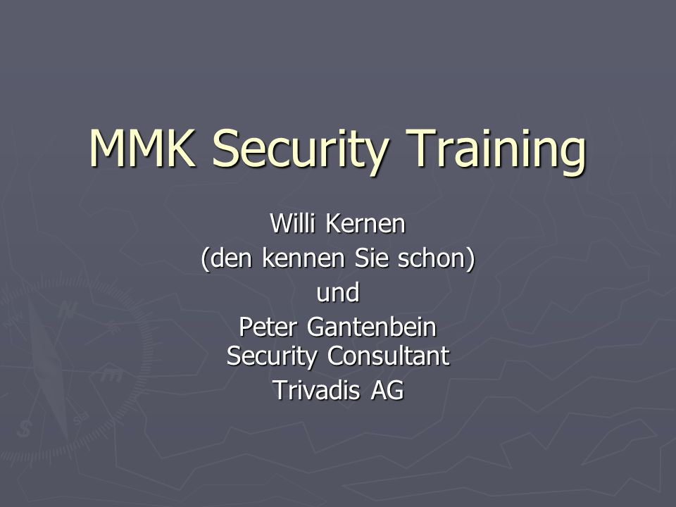 Peter Gantenbein Security Consultant