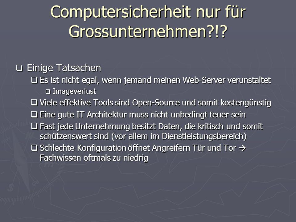 Computersicherheit nur für Grossunternehmen !