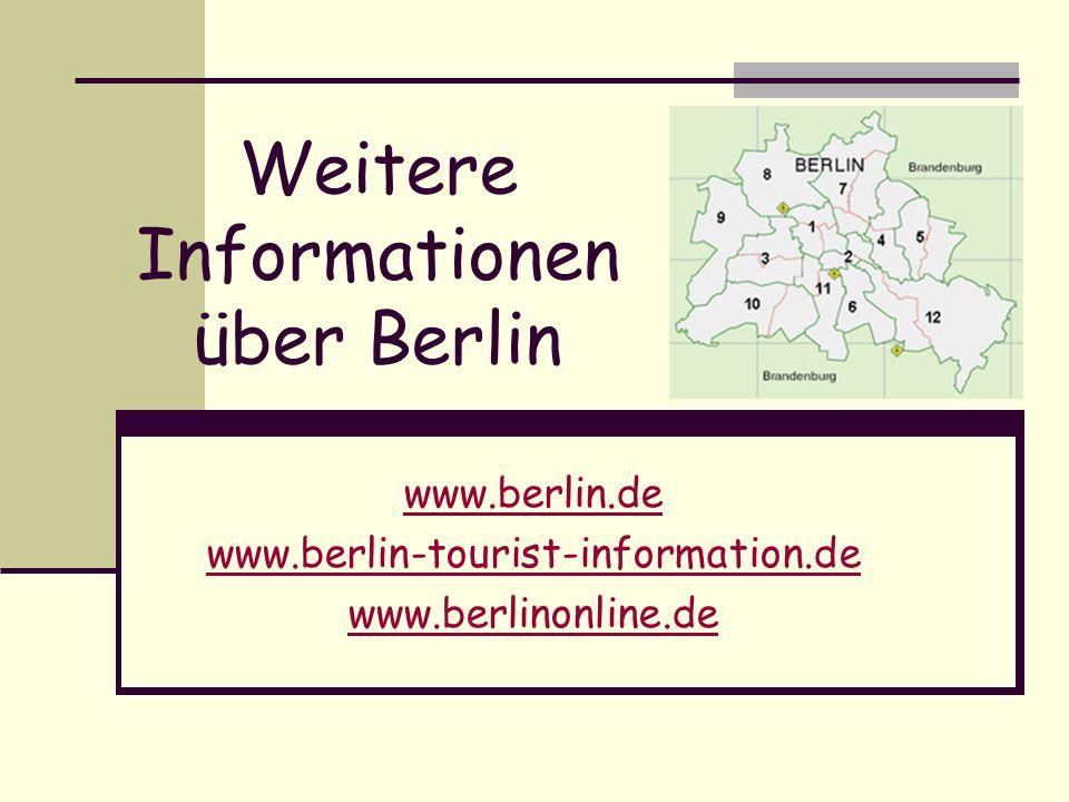 Weitere Informationen über Berlin