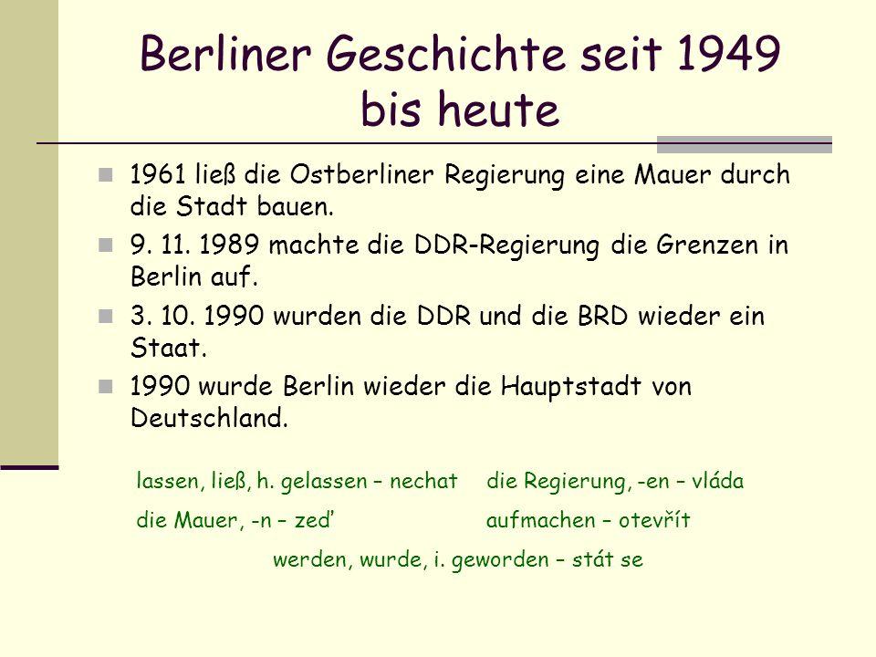 Berliner Geschichte seit 1949 bis heute