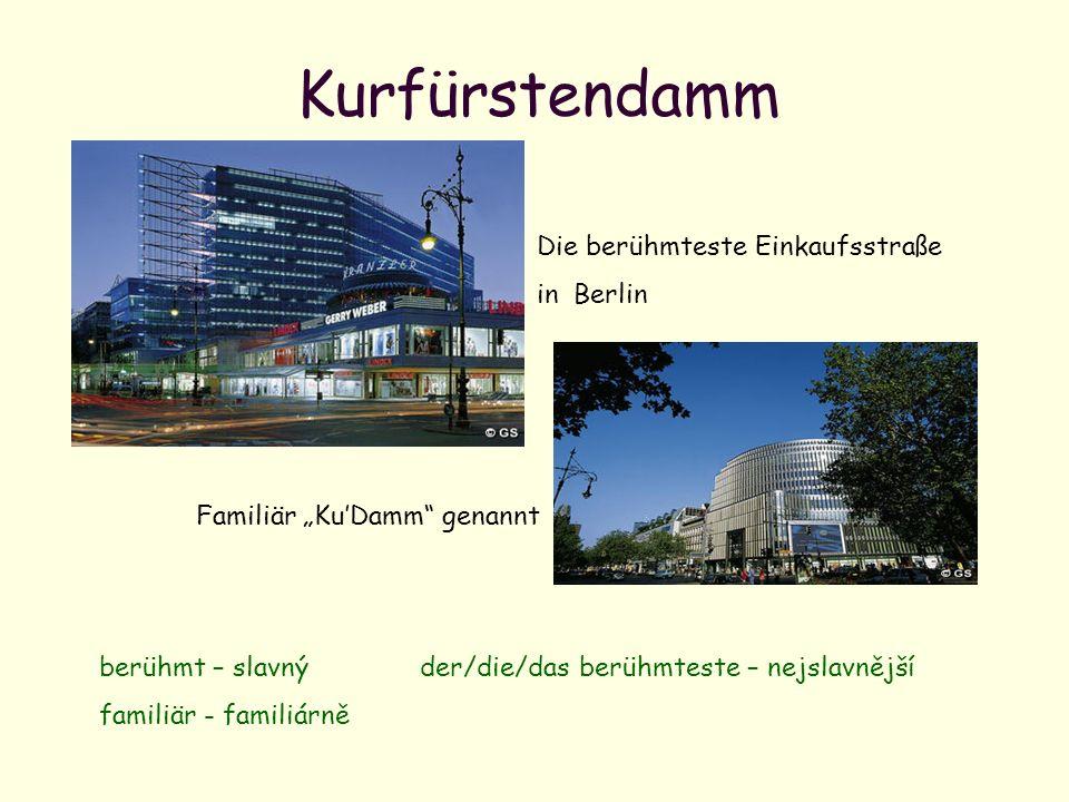 Kurfürstendamm Die berühmteste Einkaufsstraße in Berlin