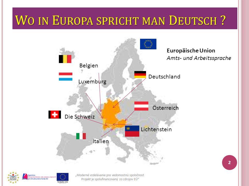 Wo in Europa spricht man Deutsch