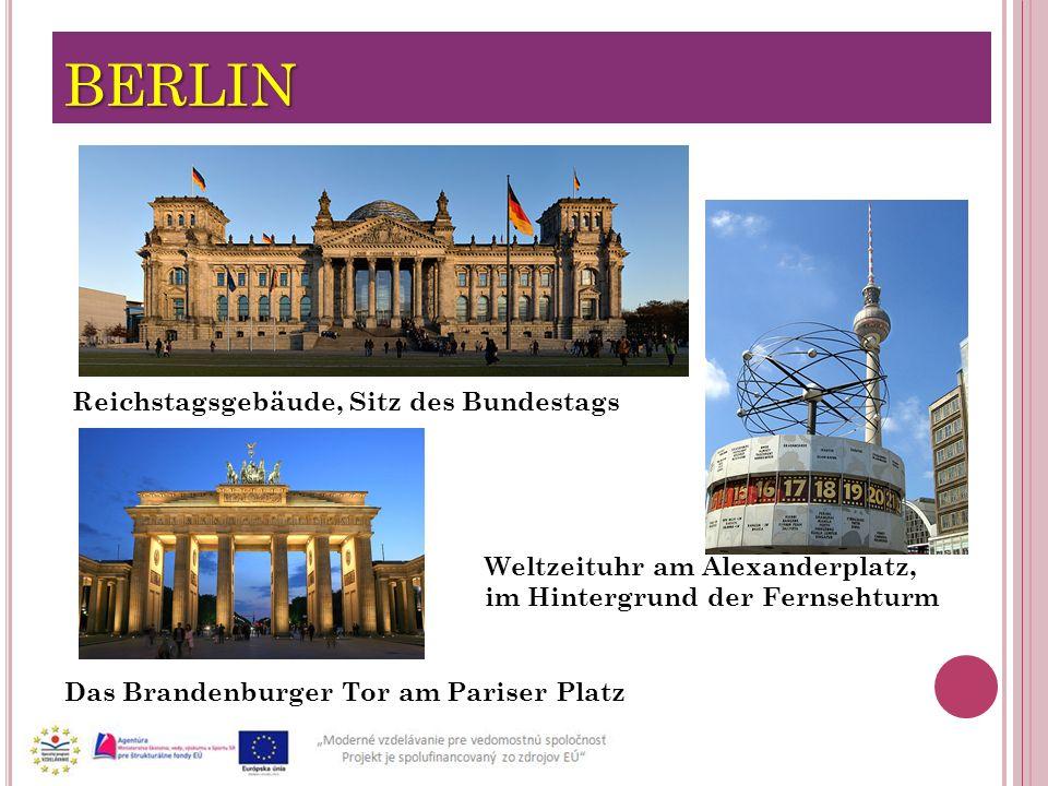 BERLIN Reichstagsgebäude, Sitz des Bundestags