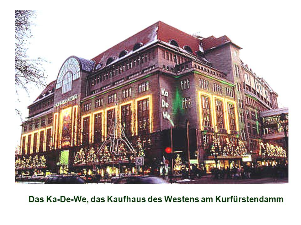 Das Ka-De-We, das Kaufhaus des Westens am Kurfürstendamm