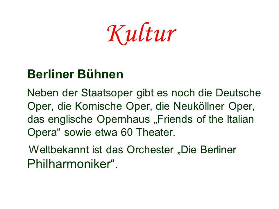 Kultur Berliner Bühnen