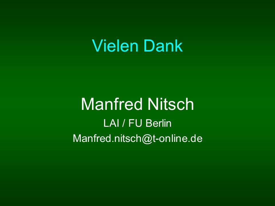 Manfred Nitsch LAI / FU Berlin