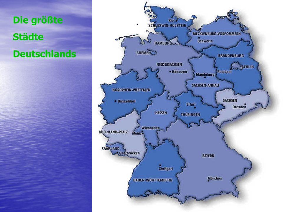 Die größte Städte Deutschlands