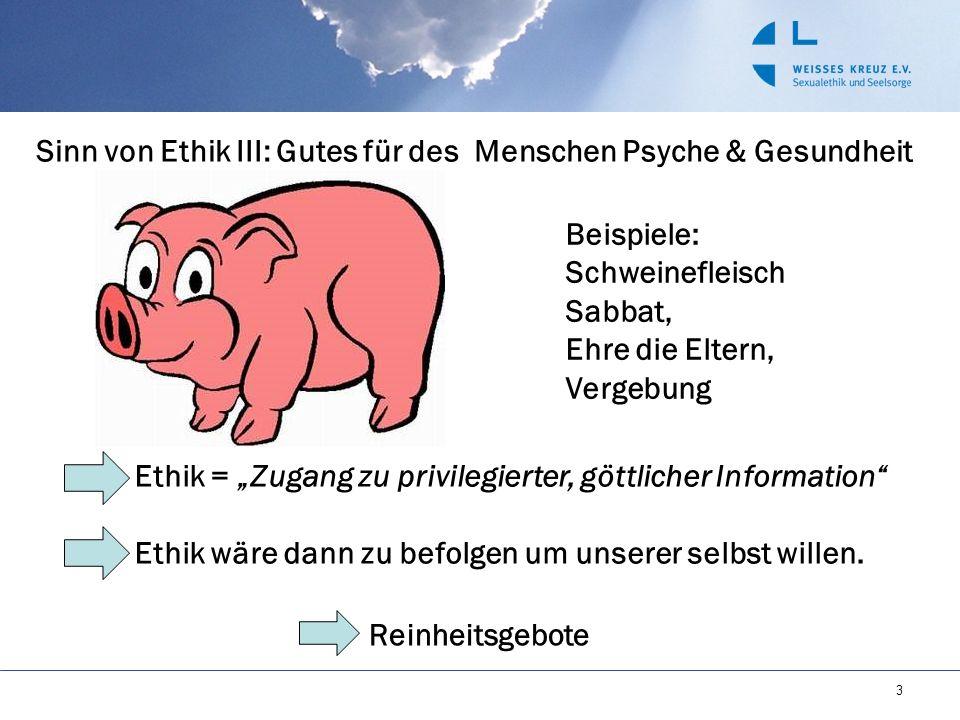 Sinn von Ethik III: Gutes für des Menschen Psyche & Gesundheit