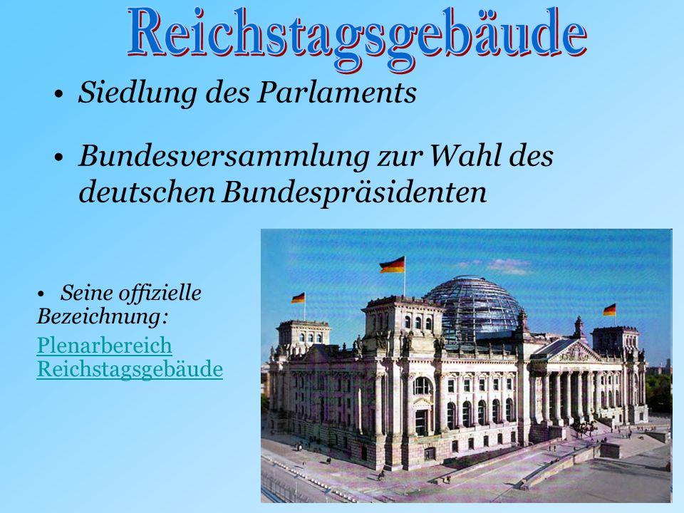 Reichstagsgebäude Siedlung des Parlaments