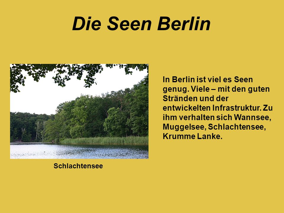 Die Seen Berlin