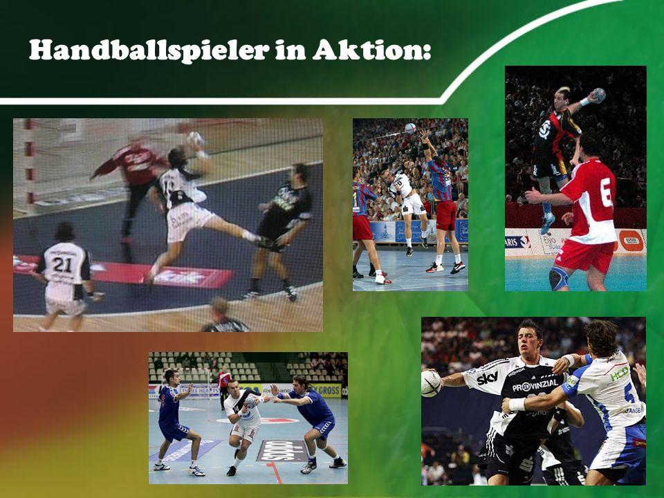 Handballspieler in Aktion:
