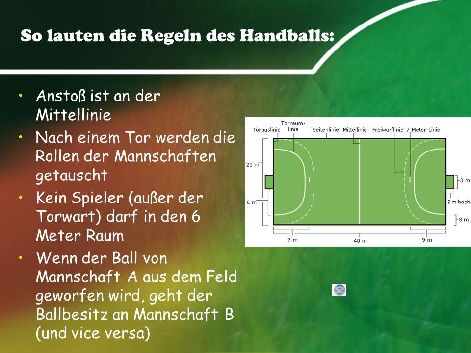 So lauten die Regeln des Handballs: