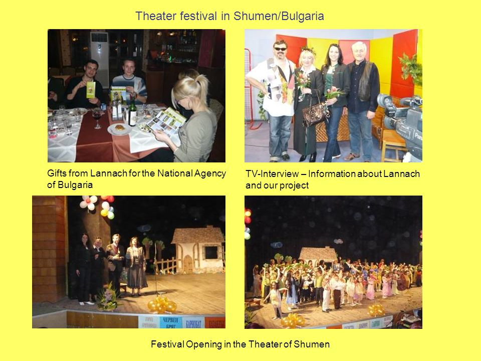 Theater festival in Shumen/Bulgaria