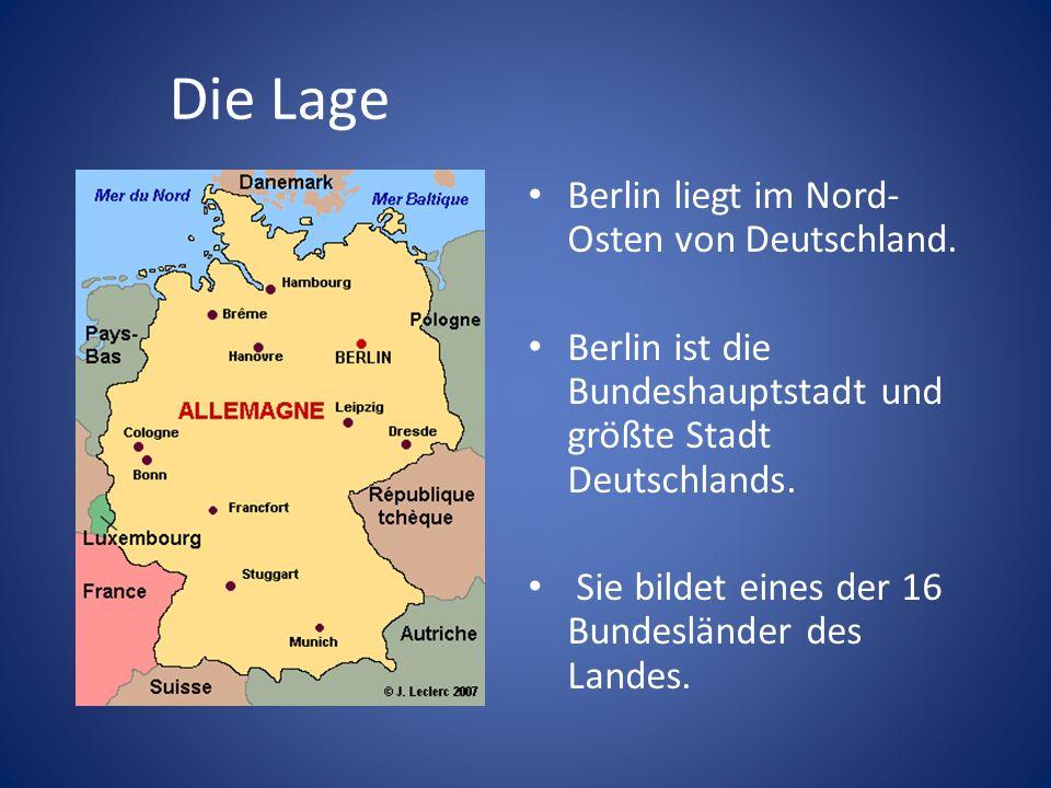 Die Lage Berlin liegt im Nord-Osten von Deutschland.