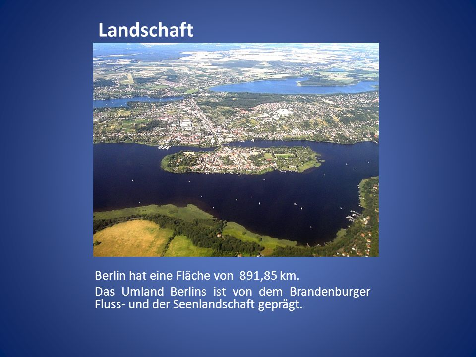 Landschaft Berlin Hat Eine Fläche Von 891,85 Km.