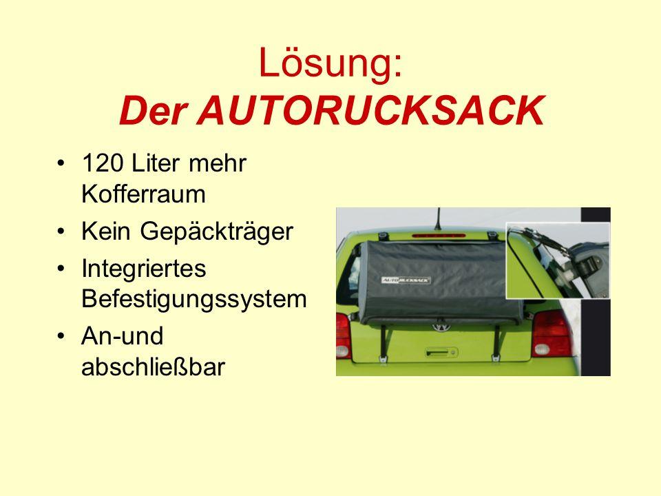 Lösung: Der AUTORUCKSACK