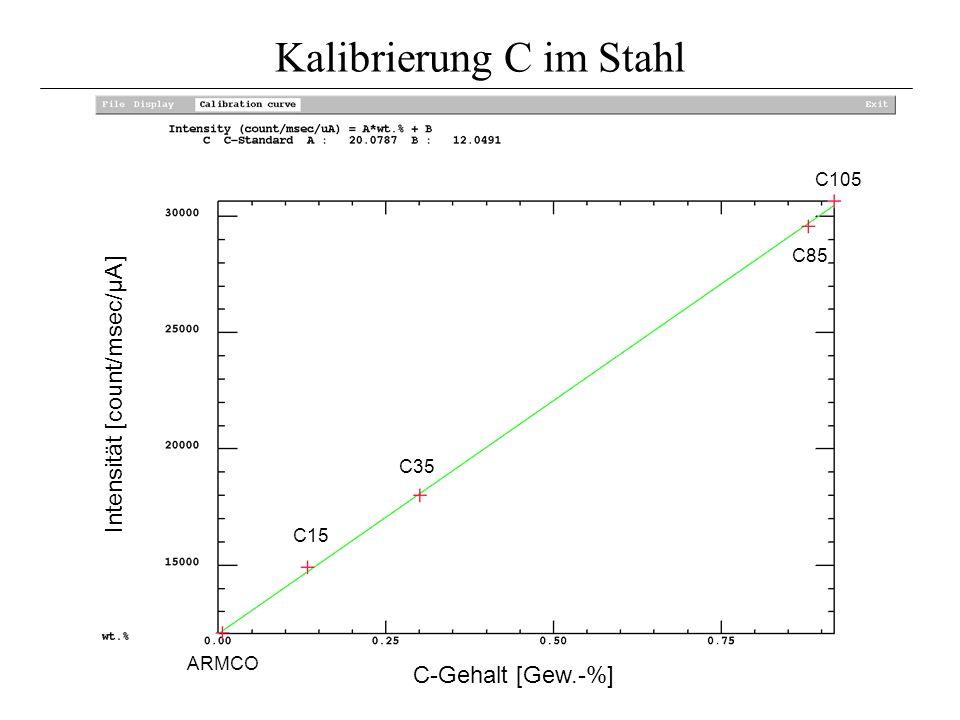 Kalibrierung C im Stahl
