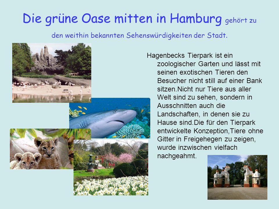 Die grüne Oase mitten in Hamburg gehört zu den weithin bekannten Sehenswürdigkeiten der Stadt.