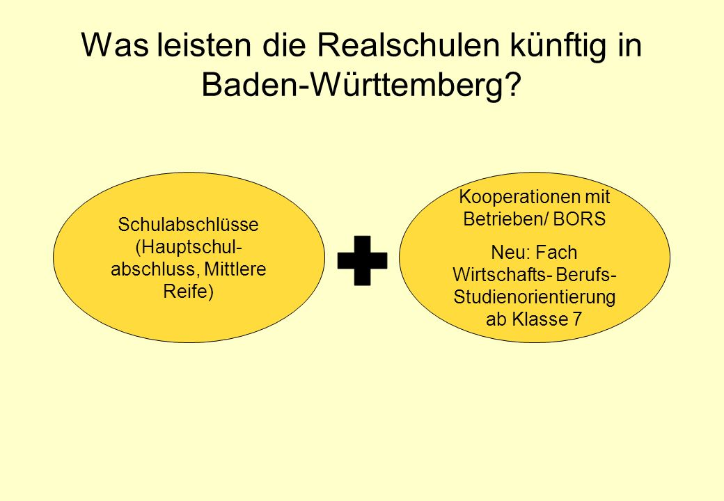 Was leisten die Realschulen künftig in Baden-Württemberg