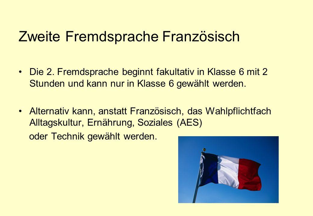 Zweite Fremdsprache Französisch