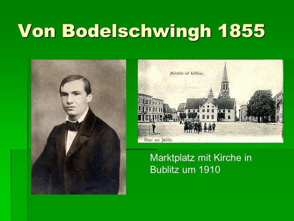 Von Bodelschwingh 1855 Marktplatz mit Kirche in Bublitz um 1910