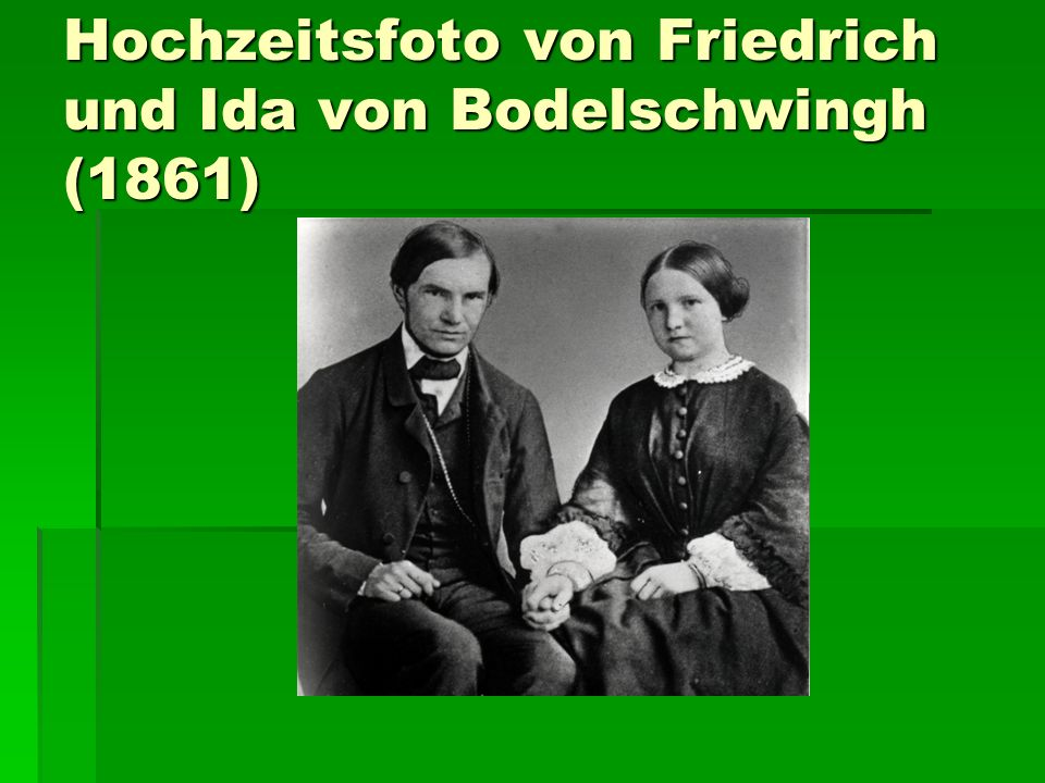 Hochzeitsfoto von Friedrich und Ida von Bodelschwingh (1861)