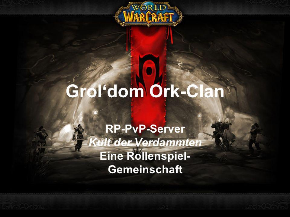 RP-PvP-Server Kult der Verdammten Eine Rollenspiel- Gemeinschaft