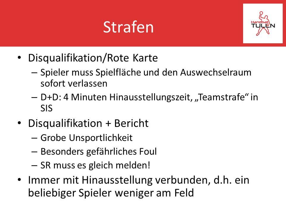 Strafen Disqualifikation/Rote Karte Disqualifikation + Bericht