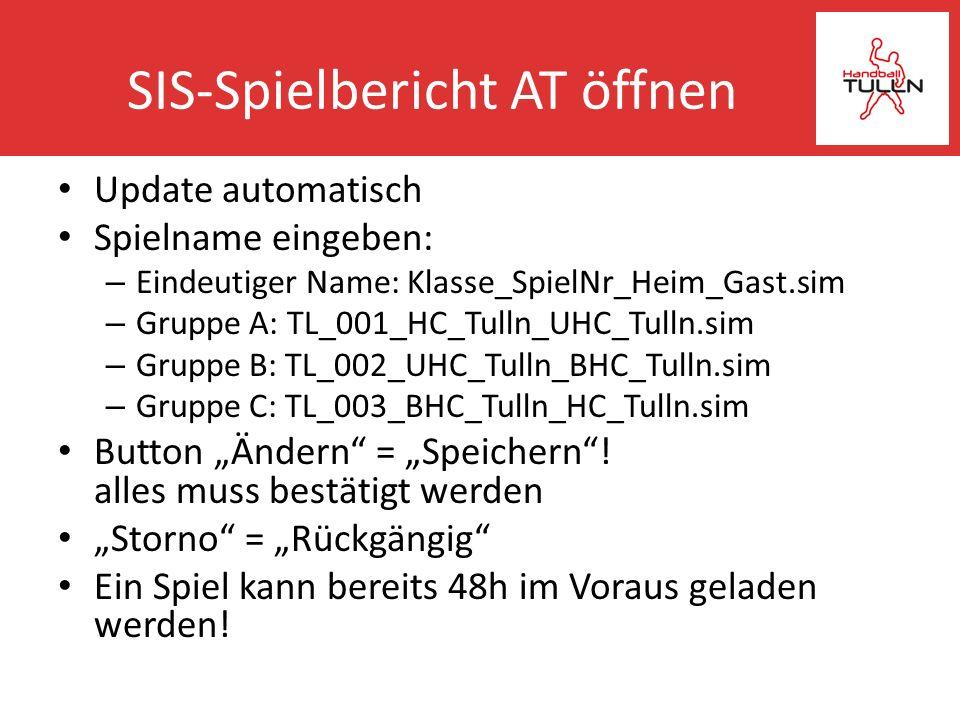 SIS-Spielbericht AT öffnen
