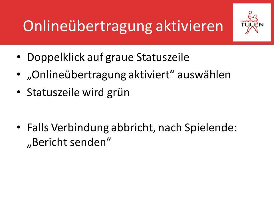 Onlineübertragung aktivieren