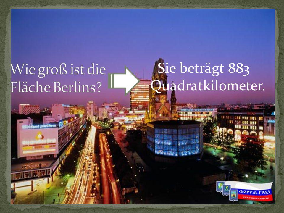 Wie groß ist die Fläche Berlins