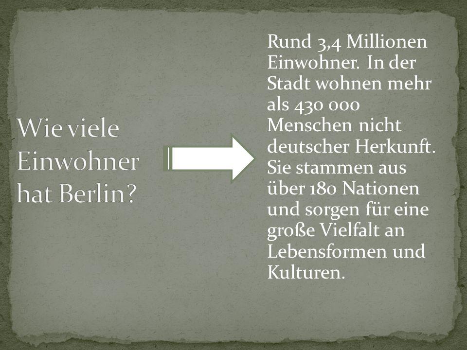 Wie viele Einwohner hat Berlin